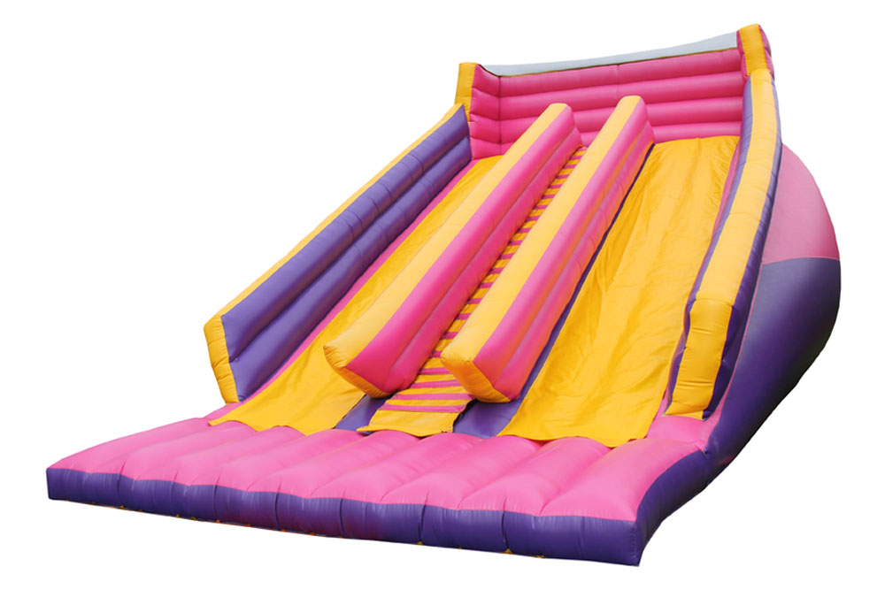 inflatable double slide play area