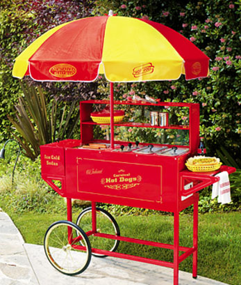 hot dog concession cart