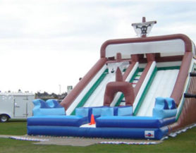 large inflatable double slide
