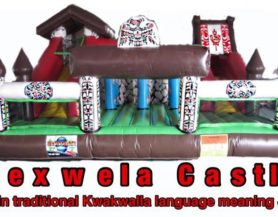 Aboriginal theme bouncy castle