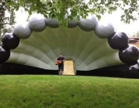 inflatable band shell for improved acoustics