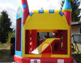 Colourful bouncy castle