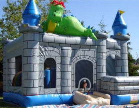 bouncy castle with dragon theme