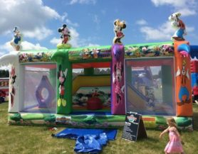 inflatable obstacle course enclosure
