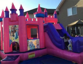 Inflatable princess palace and slide