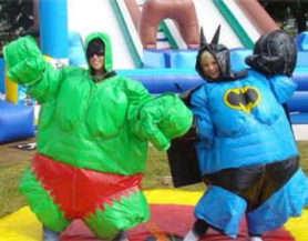 Inflatable super hero suits