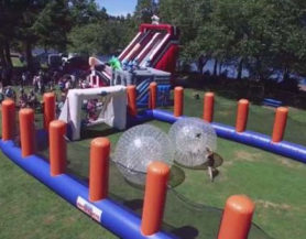 Inflatable zorb arena
